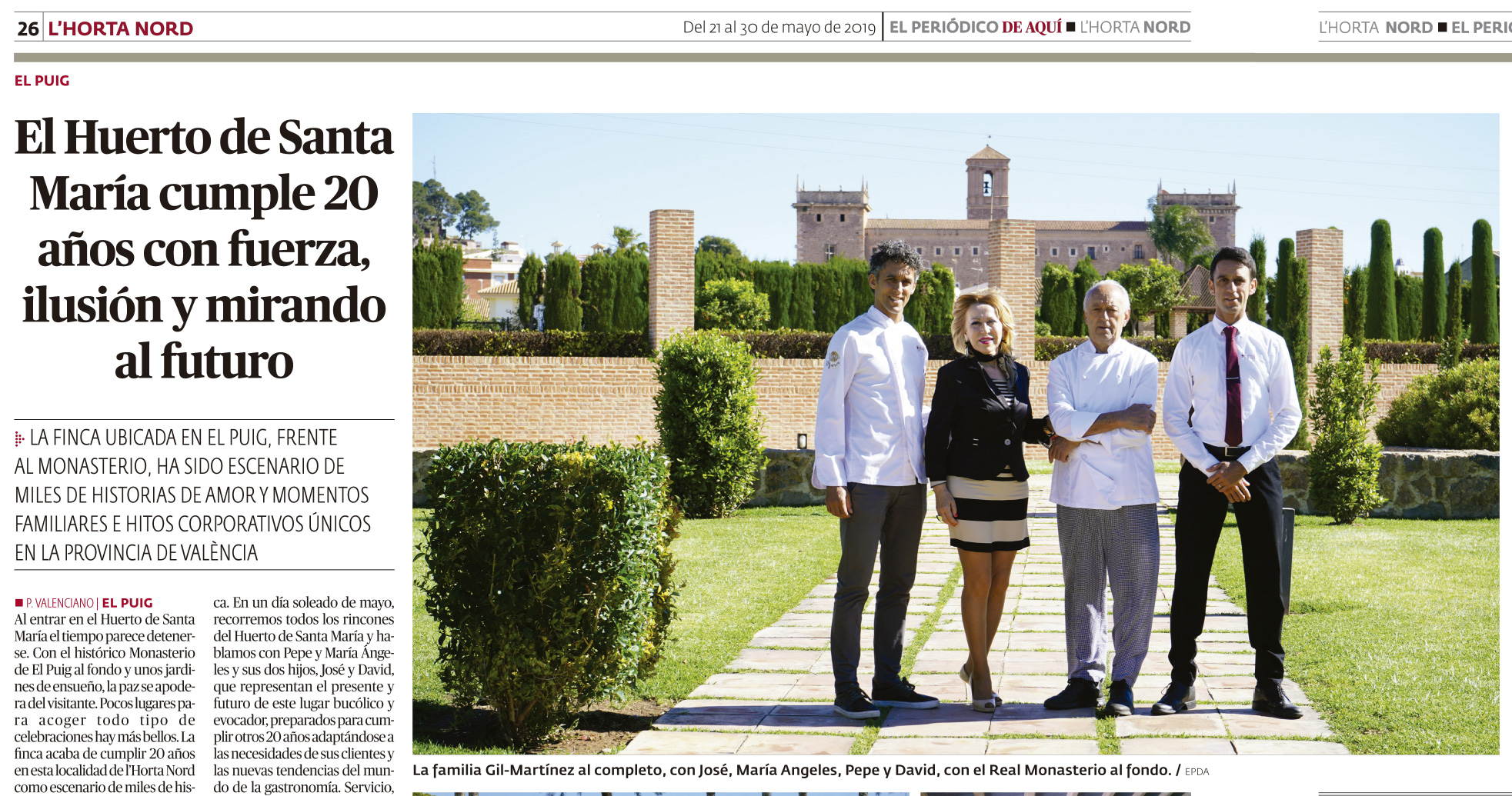 El Huerto de Santa María, Eventos en Valencia, Eventos de Empresa